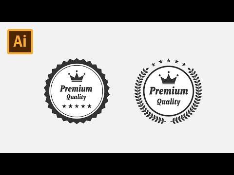Premium Quality Badge Logo Label - Illustrator CC Tutorial