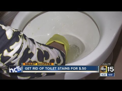 Get rid of toilet stains for 50 cents