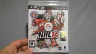 NHL 14 PS3 Playstation 3 Unboxing With Pre-Order Bonuses!!