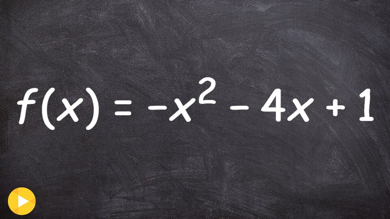 Finding The Vertex And Zeros Of A Quadratic Function