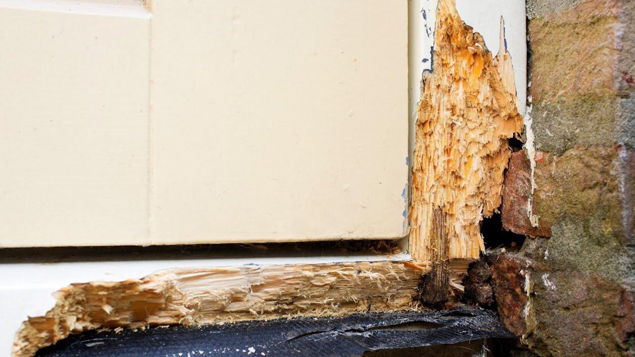 Prevent Wood Rot Gutter Window Frame Youtube