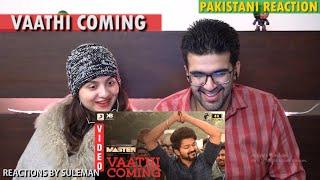 Pakistani Couple Reacts To Vaathi Coming Video   Master   Thalapathy Vijay