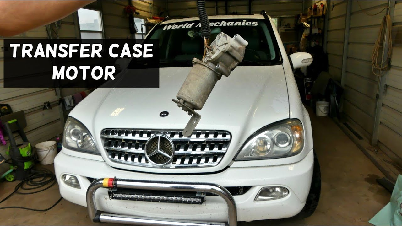 hight resolution of mercedes w163 low range transfer case motor removal replacement