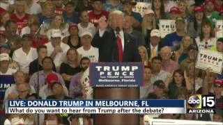 Donald Trump: What he wished he said at the debate? - Melbourne, FL