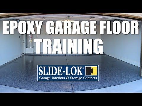 Waterborne Epoxy Garage Floor Training Video | Slide-Lok Garage Interiors