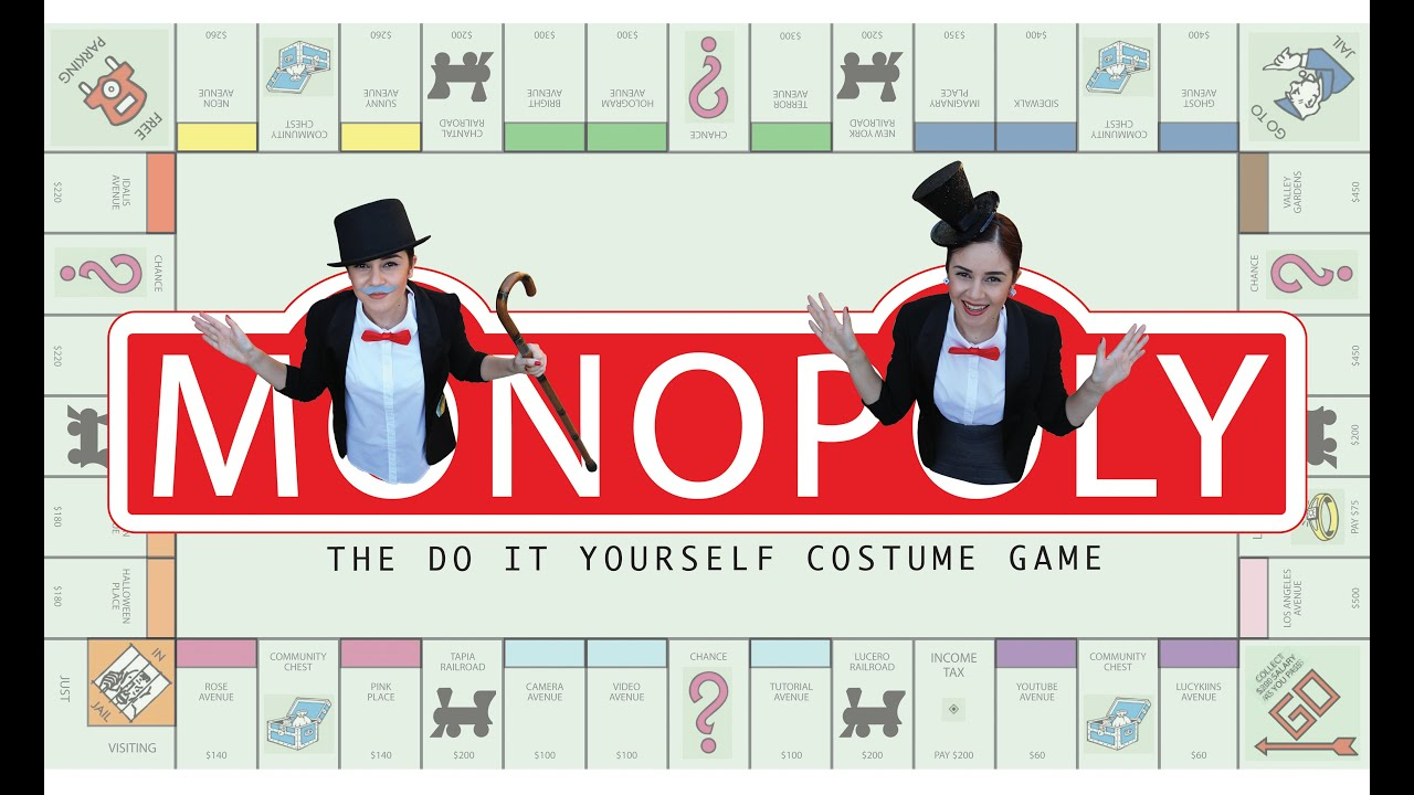 diy easy halloween costume mr mrs monopoly lucykiins