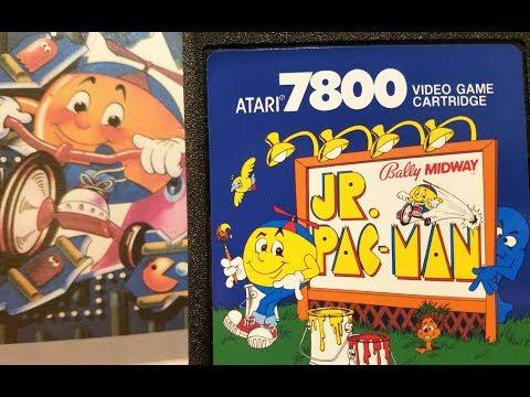 Classic Game Room - JR. PAC-MAN review for Atari 7800