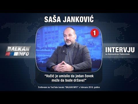 INTERVJU: Saša Janković - Vučić je umislio da jedan čovek može da bude država! (18.02.2018)