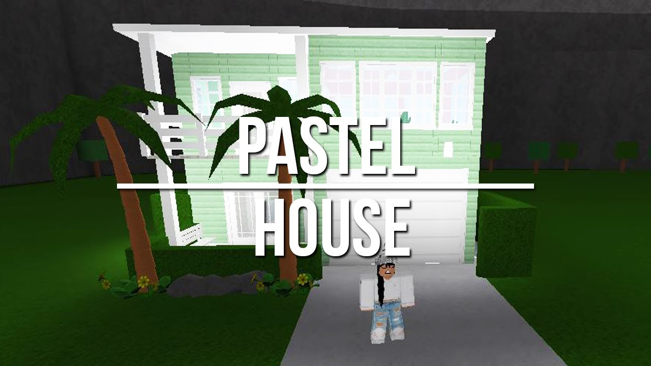 Roblox welcome to bloxburg pastel house youtube for Modern house designs bloxburg