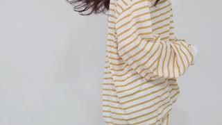 데일리앤 베티 스트라이프 루즈핏 기본 티셔츠
