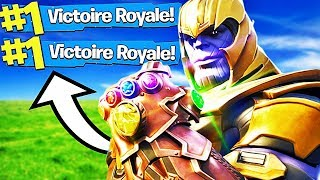 DOUBLE TOP 1 AVEC THANOS SUR FORTNITE ! (Fortnite: Battle Royale)