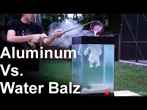 Thumbnail: Molten Aluminum Vs 'Spitballs' - SO COOL!! (water balz)