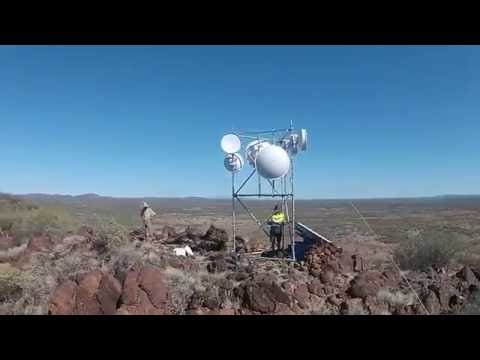 Solar Powered Remote Area Internet - Australia, Central Desert, Near Uluru