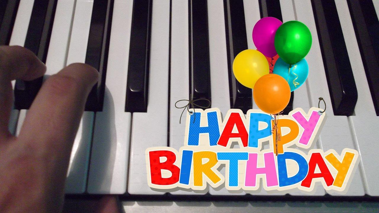 Feliz cumplea os happy birthday piano tutorial notas musicales youtube - Cumpleanos feliz piano ...