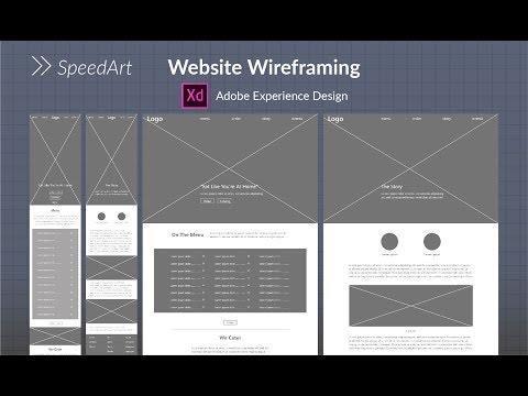 Website Wireframing in Adobe XD