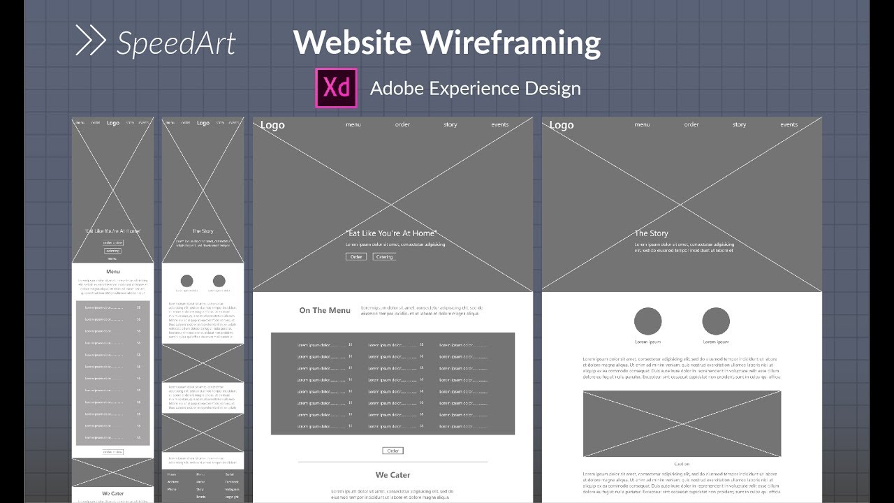 Website Wireframing in Adobe XD   YouTube Website Wireframing in Adobe XD