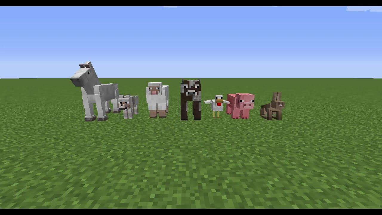 Minecraft Tiere Zähmen Und Züchten Tutorial YouTube - Minecraft spiele mit tieren