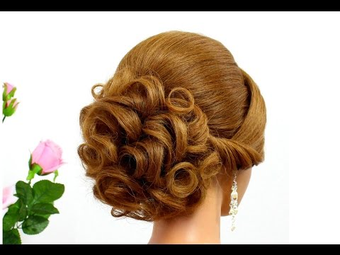 bridal-hairstyle-for-long-hair-tutorial.-curly-updo-for-wedding.