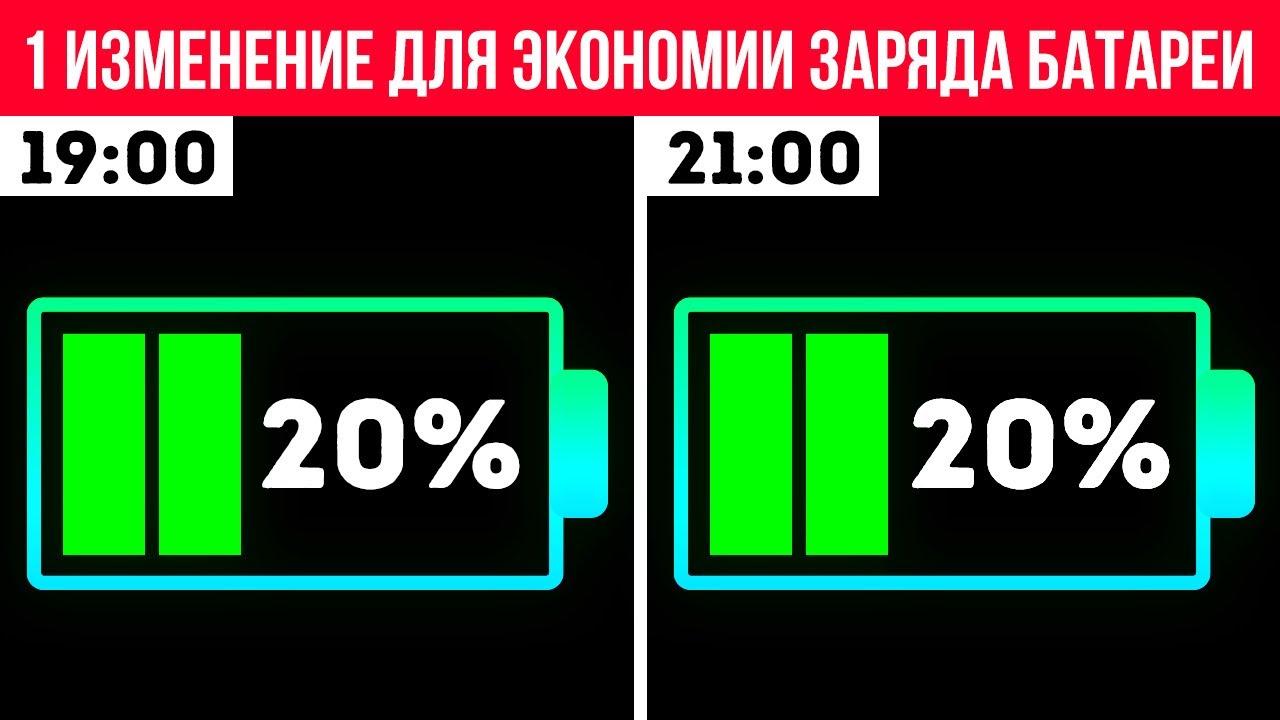 Простой трюк для экономии заряда батареи, когда у вас заканчивается заряд