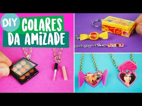 DIY COLAR DA AMIZADE: Mini Maquiagem e +! Por Isabelle Verona! #dolls #amigasyoutubers Ep. 3