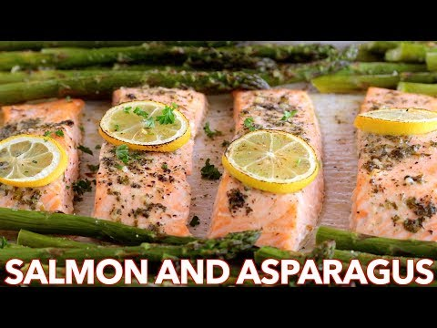 Make Dinner: Easy One Pan Salmon and Asparagus Recipe Screenshots
