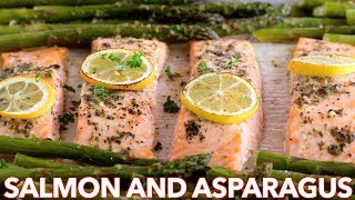 Dinner: Easy One Pan Salmon and Asparagus Recipe