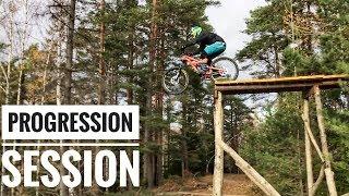FREERIDE MTB progression session at Flottsbro Bikepark 2018