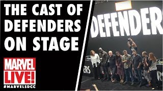 "The Cast of ""Marvel's THE DEFENDERS"" on Marvel LIVE! at San Diego Comic-Con 2017"