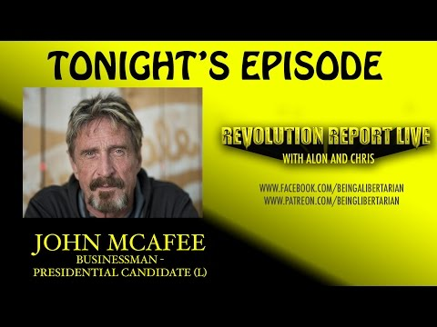 """John McAfee: """"America Created ISIS""""; """"Bitcoin Will Be Replaced"""" - RRL #8"""