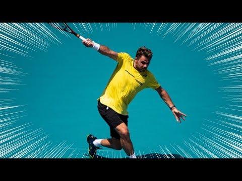 【テニス】強烈な片手バックハンドが炸裂するワウリンカのスーパープレー集【片手バック】