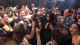 هيفاء وهبي ترقص في زفاف ابنة صادق الصباح مع سرين عبدالنور ووليد توفيق