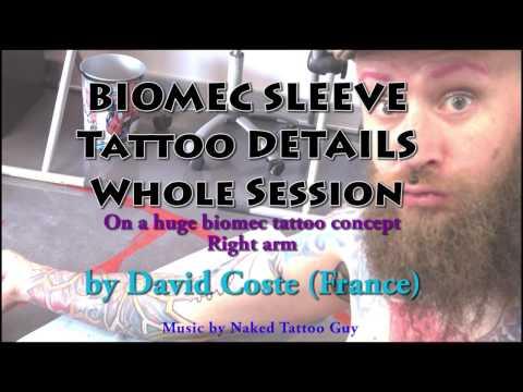 Organic tattoo (full video / real time tattoo)