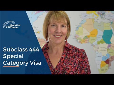 Subclass 444 Special Category Visa