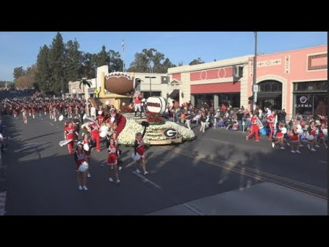 UGA Redcoat Marching Band  2018 Pasadena Rose Parade