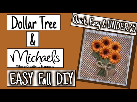 EASY Dollar Tree & Michael's FALL DIY | UNDER $5