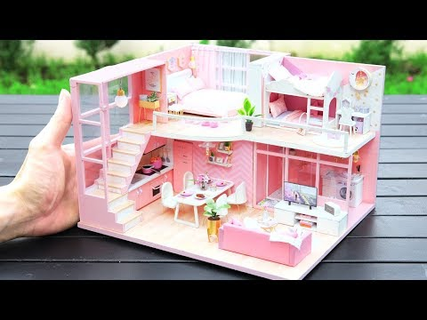 DIY Miniature Dollhouse Kit || Dream Angel ( With Two Bedroom )