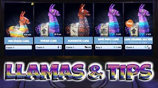 FORTNITE PvE : BEST LLAMA AND secret TIPS - 2 FREE LLAMAS