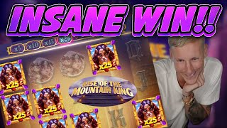 INSANE WIN!!! Rise of the Mountain King BIG WIN - Casino Game from Casinodaddys live stream