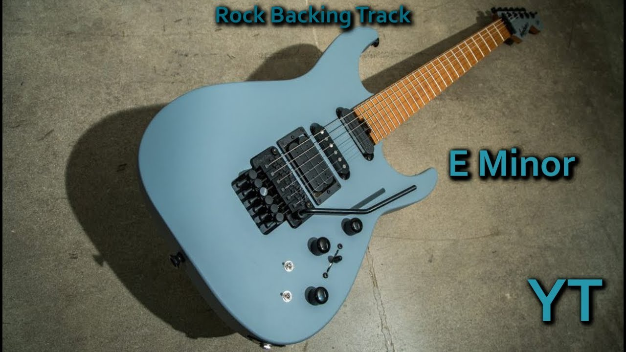Heavy Rock Guitar Backing Track E Minor