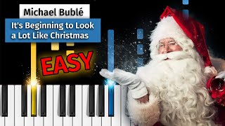 Michael Bublé - It's Beginning to Look a Lot Like Christmas - EASY Piano Tutorial