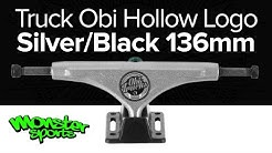 Truck Obi Hollow Logo Silver/Black 136mm - Skate Shop Monster Sports