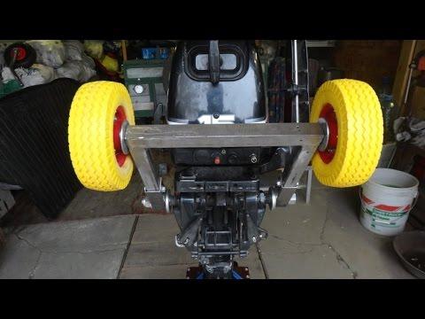 Тележка самодельная для погрузки лодочного мотора в авто.