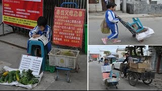 'Mum and dad, I miss you!' 8 y.o girl sells veggies on streets for 5 yrs after abandoned by parents