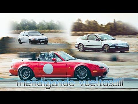 Mendigando Vueltas ! Mazda Mx5 Honda Civic b16 y Honda CRX !!