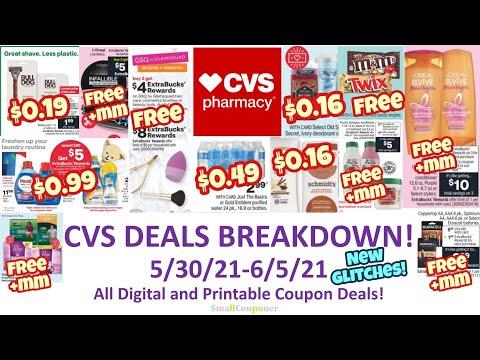 CVS Deals Breakdown 5/30/21-6/5/21! New Glitches! All Digital and Printable Coupon Deals!