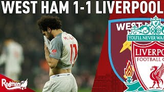 Now The Pressure Is Really On! | West Ham v Liverpool 1-1 | Chris' Match Reaction