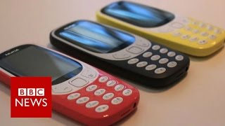 Nokia 3310 mobile phone resurrected at MWC 2017 - BBC News(Nokia's 3310 phone has been relaunched nearly 17 years after its debut. Many consider the original handset iconic because of its popularity and sturdiness., 2017-02-27T15:48:24.000Z)