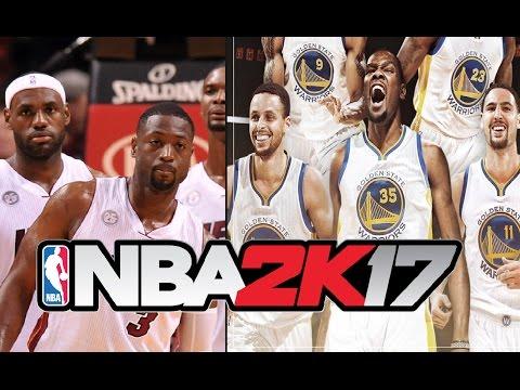 The Miami Heat 2012 Big Three VS The 2016 Golden State Warriors Big Three | NBA 2K17 CHALLENGE
