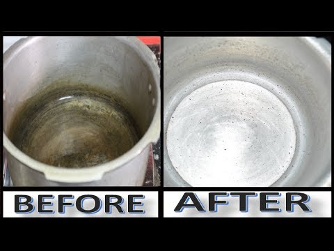 How to Clean a Stained Pressure Cooker || Cleaning A Stained Pressure Cooker