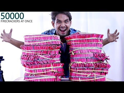 50000 Firecrackers One MILLION SUBSCRIBERS Celebration Party !!!